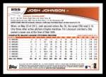 2013 Topps #255  Josh Johnson   Back Thumbnail