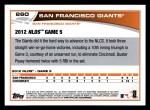 2013 Topps #260   San Francisco Giants - NLDS Game 6 Back Thumbnail