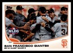 2013 Topps #260   San Francisco Giants - NLDS Game 6 Front Thumbnail