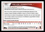 2013 Topps #261  Trevor Rosenthal   Back Thumbnail