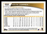 2013 Topps #262  Kevin Correia   Back Thumbnail