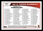 2013 Topps #264  Roy Halladay   Back Thumbnail