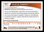 2013 Topps #271  Jeurys Familia   Back Thumbnail