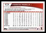 2013 Topps #279  Vicente Padilla   Back Thumbnail