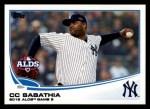 2013 Topps #283  CC Sabathia   Front Thumbnail