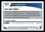 2013 Topps #283  CC Sabathia   Back Thumbnail