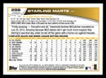 2013 Topps #288  Starling Marte   Back Thumbnail