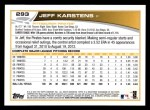 2013 Topps #293  Jeff Karstens   Back Thumbnail