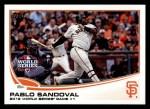 2013 Topps #298  Pablo Sandoval   Front Thumbnail
