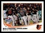 2013 Topps #317  Baltimore Orioles   Front Thumbnail