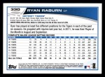 2013 Topps #330  Ryan Raburn   Back Thumbnail