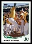 2013 Topps #334  Derek Norris  Front Thumbnail