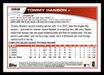 2013 Topps #352  Tommy Hanson  Back Thumbnail