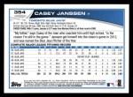 2013 Topps #354  Casey Janssen  Back Thumbnail