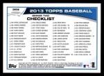 2013 Topps #359  CC Sabathia  Back Thumbnail