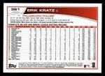 2013 Topps #361  Erik Kratz  Back Thumbnail