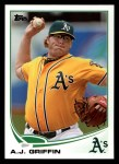 2013 Topps #370  A.J. Griffin  Front Thumbnail