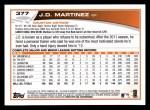 2013 Topps #377  J.D. Martinez  Back Thumbnail