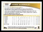 2013 Topps #390  James McDonald  Back Thumbnail