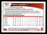 2013 Topps #397  Mike Aviles  Back Thumbnail