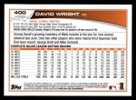 2013 Topps #400  David Wright  Back Thumbnail