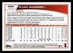 2013 Topps #404  Ryan Madson  Back Thumbnail