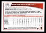 2013 Topps #406  Brandon McCarthy  Back Thumbnail