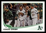 2013 Topps #408  Coco Crisp  Front Thumbnail