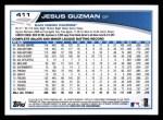 2013 Topps #411  Jesus Guzman  Back Thumbnail