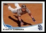 2013 Topps #412  Everth Cabrera  Front Thumbnail