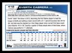 2013 Topps #412  Everth Cabrera  Back Thumbnail