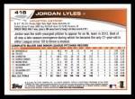 2013 Topps #416  Jordan Lyles  Back Thumbnail