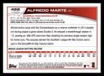 2013 Topps #422  Alfredo Marte  Back Thumbnail