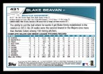 2013 Topps #431  Blake Beavan  Back Thumbnail