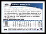 2013 Topps #439  Marco Estrada  Back Thumbnail