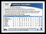 2013 Topps #444  Jordan Walden  Back Thumbnail