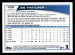 2013 Topps #445  Joe Thatcher  Back Thumbnail