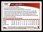 2013 Topps #450  Jay Bruce  Back Thumbnail