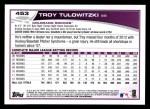 2013 Topps #453  Troy Tulowitzki  Back Thumbnail