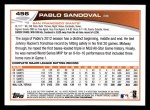 2013 Topps #456  Pablo Sandoval  Back Thumbnail