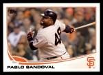 2013 Topps #456  Pablo Sandoval  Front Thumbnail