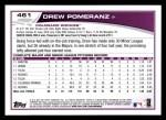 2013 Topps #461  Drew Pomeranz  Back Thumbnail