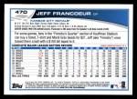 2013 Topps #470  Jeff Francoeur  Back Thumbnail