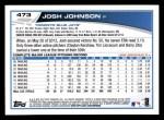 2013 Topps #473  Josh Johnson  Back Thumbnail
