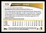 2013 Topps #475  Garrett Jones  Back Thumbnail