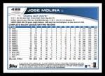 2013 Topps #492  Jose Molina  Back Thumbnail