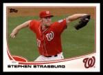 2013 Topps #500  Stephen Strasburg  Front Thumbnail