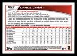 2013 Topps #507  Lance Lynn  Back Thumbnail