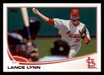 2013 Topps #507  Lance Lynn  Front Thumbnail
