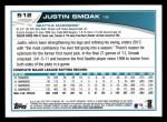 2013 Topps #512  Justin Smoak  Back Thumbnail